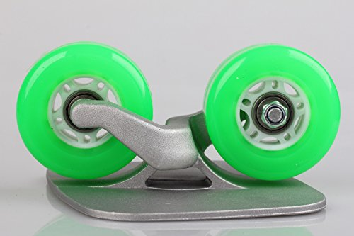 02f708e2c Green Portable Roller Road Drift Skates Plate Anti-slip Board Aluminum  Truck With PU Wheels