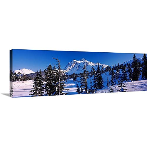 (GREATBIGCANVAS Gallery-Wrapped Canvas Entitled Mt Shuksan viewed from Heather Meadows, Mt Baker Snoqualmie National Forest, North Cascades National Park, Washington State, by 60