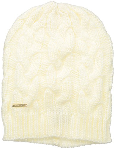 Nine West Women's Cable Elongated Slouchy Beanie, Eggshell, One Size