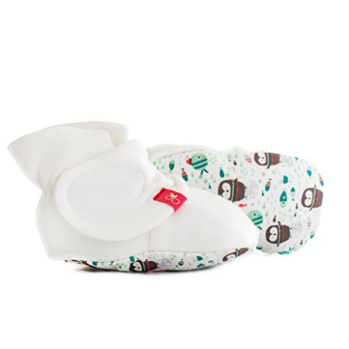 goumiboots, Soft Stay On Booties Keeps Feet Warm and Adjusts to Fit as Baby Grows (Waddle/Mint, 0-3 Months)