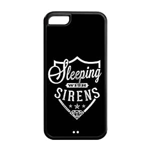 the Case Shop- Sleeping With Sirens Music Band TPU Rubber Hard Back Case Silicone Cover Skin for iPhone 5C , i5cxq-932