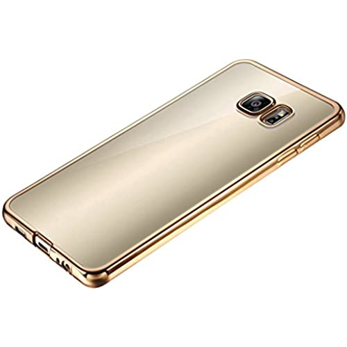 Bangcool Samsung Galaxy S7 Edge Case TPU Clear Bumper Phone Protective Case Cover for Samsung Galaxy S7 Edge 5.5in (Golden) Sales