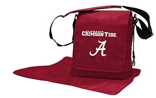 Wild Sports NCAA College Alabama Crimson Tide Messenger Diaper Bag, 13.25 x...