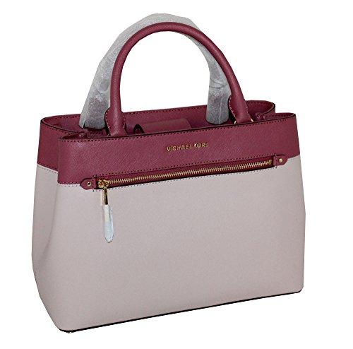 MICHAEL Michael Kors Women s HAILEE Medium Satchel Leather Handbag - Luxury  Beauty Store 898555eb78ba3