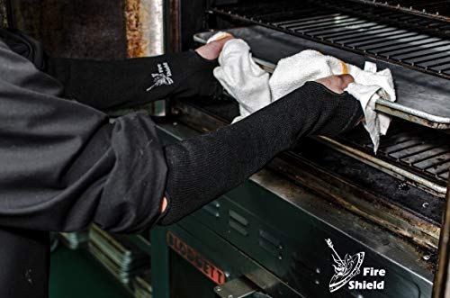 Heat and Cut Resistant Sleeves | 22 in. with Thumb and Finger Holes | Washable, Flexible, Durable | Full Arm Protection for Cooks & Welders | by FIRE SHIELD by Fire Shield (Image #1)