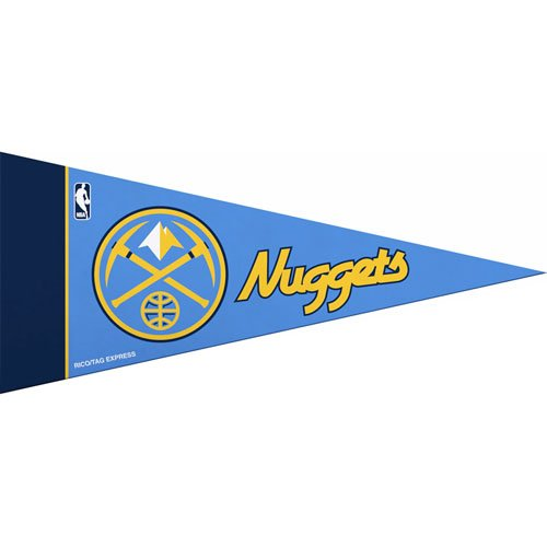 NBA Mini Denver Nuggets Pennant, (2-Pack) (Denver Nuggets Pennant)