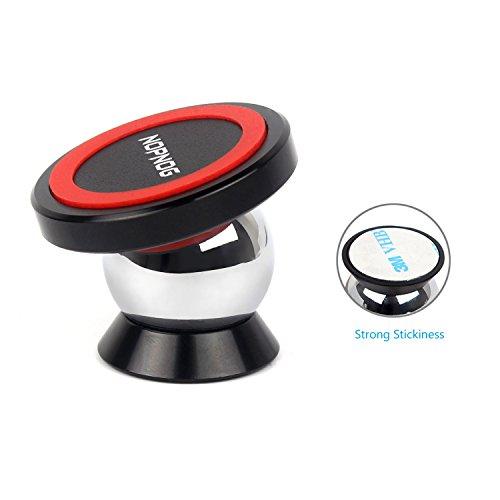 NOPNOG Soporte magnético del teléfono celular para el soporte del coche Soporte del tablero Sleek Uber Safe GPS para el iPhone X / 8 / 8Plus / 7Plus / 6 6S Samsung Galaxy Note S7 S8