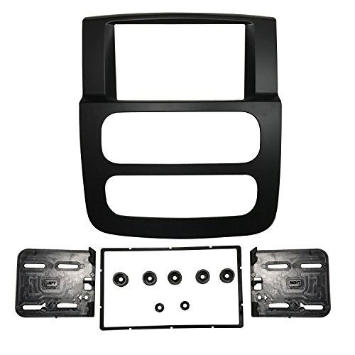 DKMUS Double Din Radio Stereo Dash Install Mount Trim Kit for 2002 2003 2004 2005 Dodge Ram 1500 2500 3500