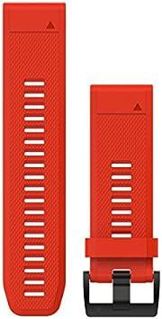 Garmin Quickfit - Correa de reloj, Rojo (Flame Red), 26mm