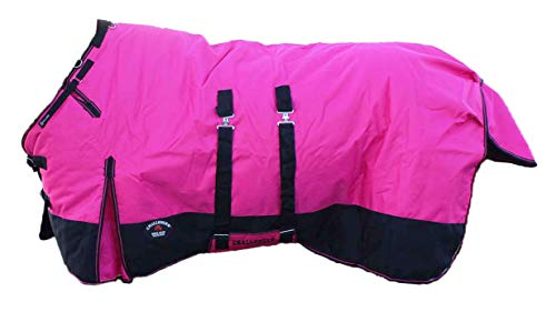 """CHALLENGER 80"""" 1200D Turnout Waterproof Horse Winter Blanket Heavy Belly Band 573B"""