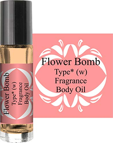 (Flower Bomb TYPE (W) (PURE AND UNCUT) BODY OIL 1/3 ROLLER BOTTLE)