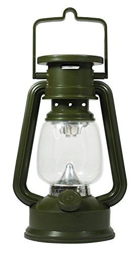 SE FL807-15GR 15 LED Hurricane Lantern with Dimmer Switch, Green