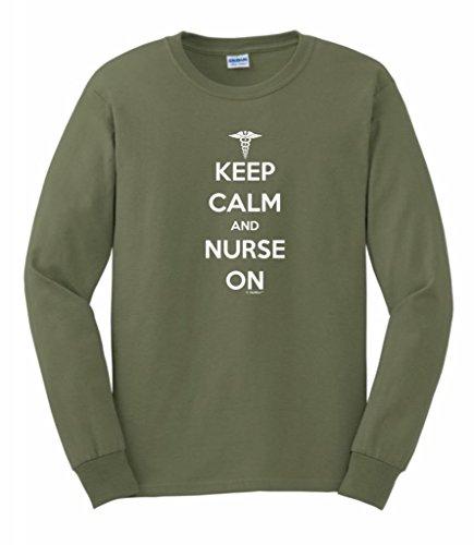 On Long Sleeve T-Shirt 4XL Military Green (Ducks Heart Watch)