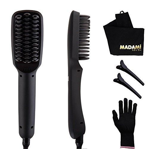 Madami Hair Straightener Brush 2 In 1 Ptc Heating