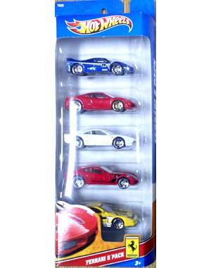 (Hot Wheels 5 Car Gift Pack - Ferrari)