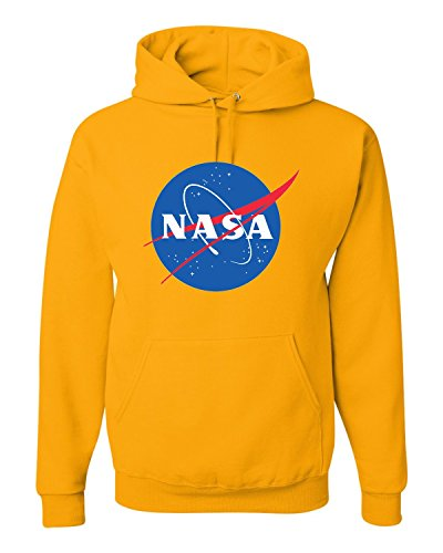 XXX-Large Gold Adult NASA Logo Sweatshirt Hoodie ()