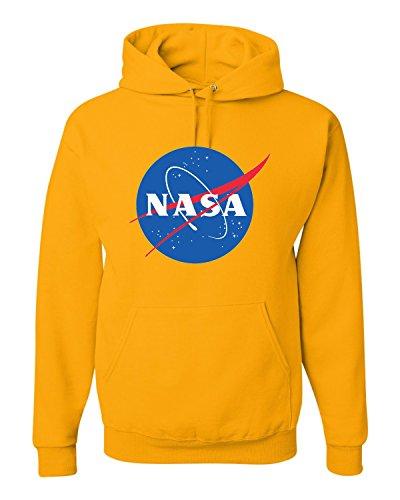 XXX-Large Gold Adult NASA Logo Sweatshirt Hoodie