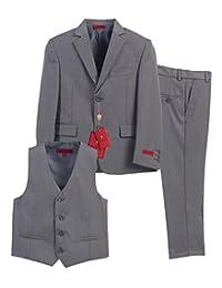 Gioberti 3 Piece Big Boys Formal Suit, Vest, Pants Set
