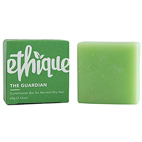 Ethique Eco-Friendly Solid Conditioner Bar for Normal-Dry Hair, Guardian - Sustainable Natural Conditioner, Plastic Free, 100% Soap Free, Vegan, Plant Based, 100% Compostable and Zero Waste, 2.12oz (Best Conditioner For Normal Hair)
