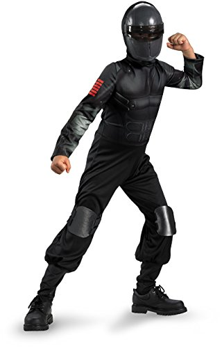 Snake Eyes Deluxe Costumes - G.i. Joe Retaliation Snake Eyes Classic Costume, Black, Large