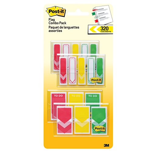 """Post-it Prioritization Flags, """"Arrow"""", Red, Yellow, Green..."""
