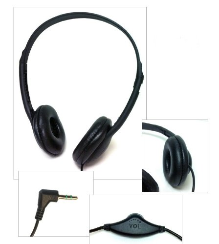 Classroom Stereo Budget Headphones with Leatherette Earpads Volume Control - 10 - Pack Stereo
