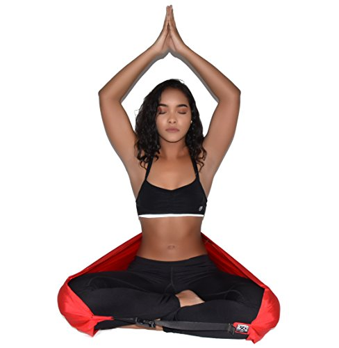 Meditate like a pro! ZaRRian Compact Yoga Seat Strap for Comfortable, Supported Meditation - 2 in 1 Yoga Seat Strap and Yoga Bag