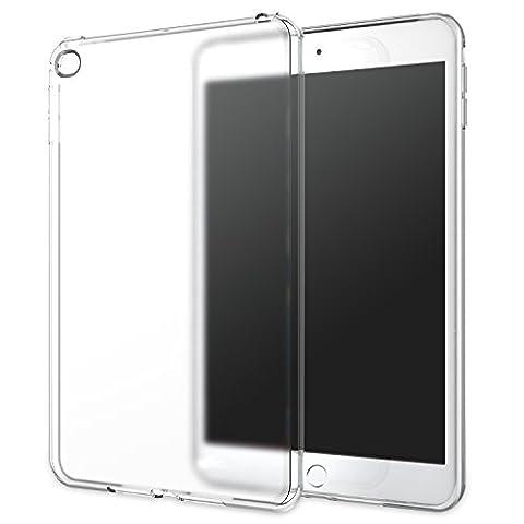 MoKo iPad Mini 4 Case - Premium Soft TPU Skin Flexible Bumper Semi-transparent Frosted Rubber Back Cover Case for Apple iPad Mini 4 (2015 edition) 7.9 inch iOS Tablet, Frost (Ipad 3 Soft Gel Case)