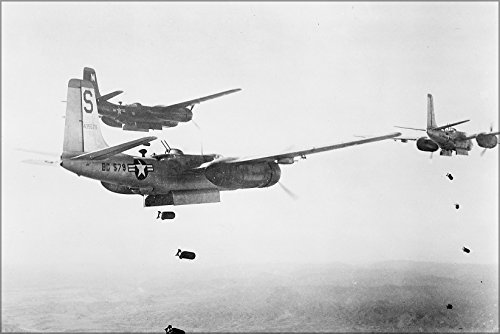 (24x36 Poster . Air Force B-26 Invader Bombers Oct 1951 Korean War)