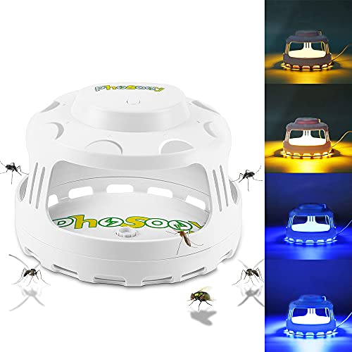 Phosooy Flea Trap, 4-in-1 Electric Pest Trap with 5 Sticky Board Refills, Night Light Dome Flea Trap Killer Works on…