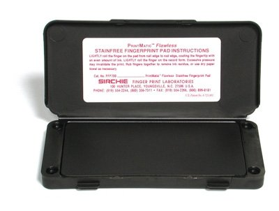 Sirchie PRINTMATIC Flawless Fingerprint Ink Pad of Size: 6 1/4'' x 3'' - Pack of 2 by Sirchie