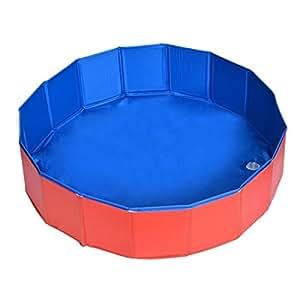 Pet Swimming Pool Toogoo R Foldable Pet Dog Swimming House Bed Summer Pool Blue
