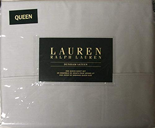 Lauren Queen Dunham Sateen Silver Sheet ()