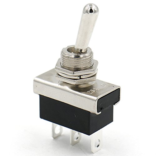 Heschen Metal Toggle switch Flick Flip 12V 25A ON/ON 2 positon 3 pin for Car Dash Light Heschen Electric Co.Ltd