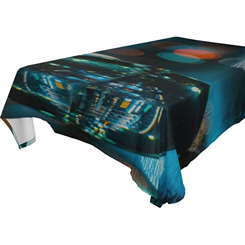 MAXM Ball Reflection Glare Rectangular Tablecloth for Dinner,Kitchen,Party,Picnic,Wedding,Restaurant Or Banquet Use,Fall,Holidays,Thanksgiving,Halloween,Christmas,tablecovers Spread,54x72 -