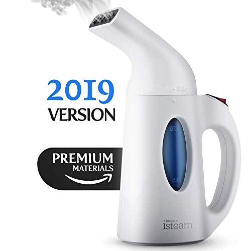 iSteam - Steamer for Clothes [Update] 7-in-1 Powerful Multi-Use: Wrinkle Remover-Clean-Sterilize-Sanitize-Refresh-Treat-Defrost- for Garment/Home/Kitchen/Bathroom/Car/Face/Travel