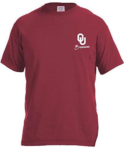 Image One NCAA Oklahoma Sooners School Pride Frame Short Sleeve Comfort T-Shirt, Large,Crimson
