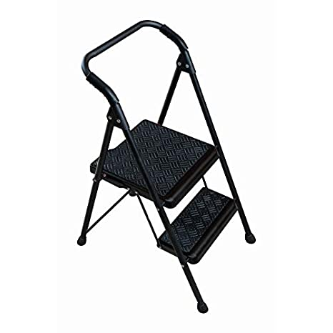 Excellent Werner 2 Step 250 Lbs Capacity Black Steel Foldable Step Stool Ocoug Best Dining Table And Chair Ideas Images Ocougorg