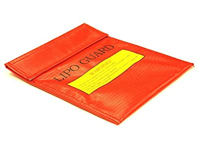 Integy RC Hobby C22533RED LiPo Guard Medium Battery Bag (225x180mm) for Charging and Storaging