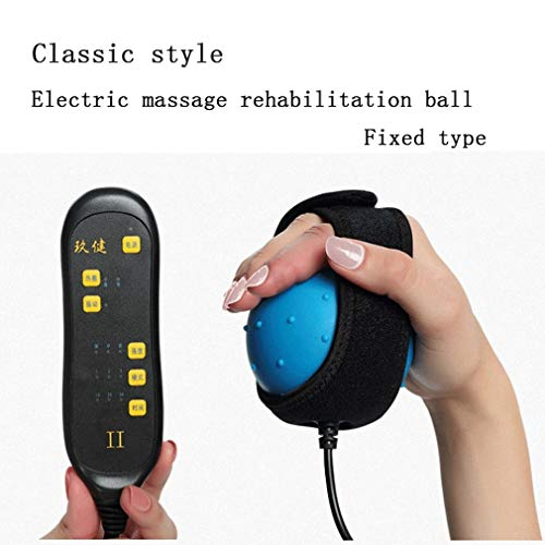 LANA Electric Heating Hand Massager Ball Massage Hand and Finger Physiotherapy Rehabilitation Treatment of spastic Dystonia Hemiplegia Stroke (Size : A)