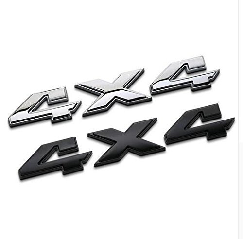 TK KLZ 2Pcs 3D ABS 4X4 Four Wheel Drive Logo Premium Car Side Fender Rear Trunk Emblem Badge Sticker Decals for JEEP Dodge Mercedes BMW Mustang Volvo Chevrolet Nissan Audi VW Ford Honda Toyota Lexus