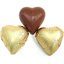 Gold Foiled Chocolate Hearts, 5LBS