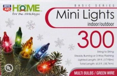 mini lights multi colored bulbsgreen wire indooroutdoor 300