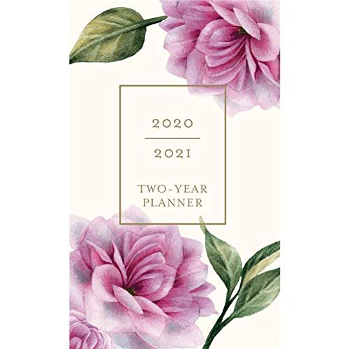 """Graphique 2020 Vintage Floral 2 Year Planner - 29-Month Planner in 4 Languages, Includes Notes, Reference Pages, Public and Culturally Significant Holidays, 3.75"""" x 6"""""""