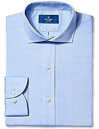 Men's Slim Fit Cutaway-Collar Solid Non-Iron Dress Shirt