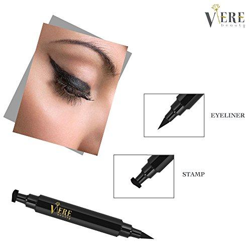 Dual Wing (VereBeauty Eyeliner Stamp, Eye Liner,Cat eyeliner, Liquid Eye liner, Dual Ends, Waterproof Smudge proof Winged Long Lasting Liquid Vamp Style Wing No Dipping Required Eyeliner)