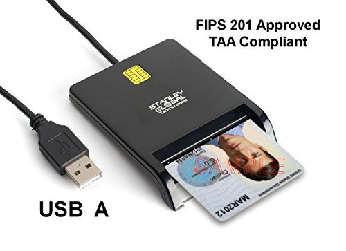 - Stanley Global SGT111-8 CAC PIV Corporate Smart Card Reader (USB A) (FIPS 201) (TAA Compliant)