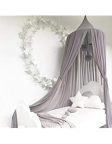 Crib Netting Babies Kids Bed Mosquito Net With Ball Tassel Anti Insect Kid Room Princess Bed Canopy Kids Room Bedding Round Bed Mosquito Net Less Expensive