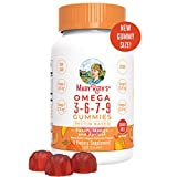 Organic Vegan Vitamin Omega 3-6-7-9 Gummies Supplement (Plant Based) by MaryRuth Chewable, Non-GMO, Gluten Free for Men, Women & Kids, NO Fish, NO Krill, Sugar Free (120 Count)