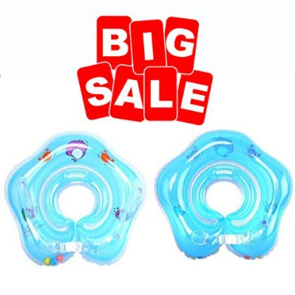 Bath Pillows - 1pc Baby Float Ring Inflatable Born Infant Neck Swimming Circle - Center Pool Play Holder Float Inflatable Ring Drink Bath Pillows Inflatable Infant Neck Float Swim Ring Baby F (Best Bath Pillow Reviews)